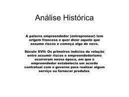 Análise Histórica_Empreendedorismo