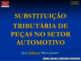 substituição tributária de peças no setor automotivo