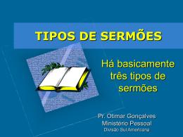 TIPOS DE SERMÕES