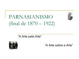PARNASIANISMO - Colégio Passionista São Paulo da Cruz