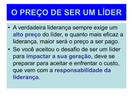 verdadeiros líderes - Comunidade Evangélica Cristã de Vila da Penha