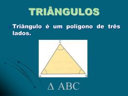 triângulos - Colégio Candido Portinari
