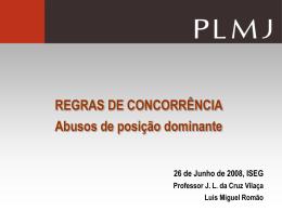 posição dominante - Faculdade de Direito da UNL