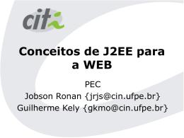 Conceitos de J2EE para a WEB