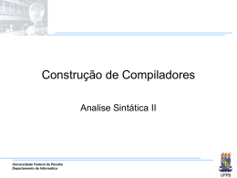 Slides - Departamento de Informática — UFPB