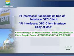 OPC - Integrando sistemas O