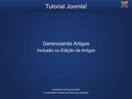 Tutorial Joomla - Gerenciando Artigos