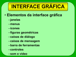 INTERFACE GRÁFICA