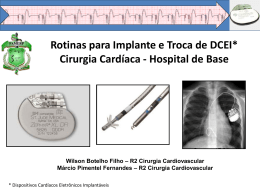 Rotinas para Implante e Troca de DCEI