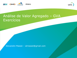 Analise de Valor Agregado Exercicios