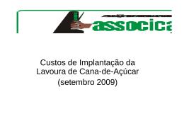 Custo de Produção Setembro 2009