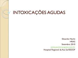 Intoxicações agudas - Paulo Roberto Margotto