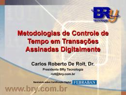 PROTOCOLIZAÇÃO DIGITAL DE DOCUMENTOS ELETRÔNICOS