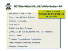 Slide 1 - Prefeitura Municipal de Santa Maria