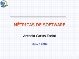 Métricas de Software 2 PARTE - 18/05/2004