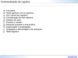 Contextualização da Logística