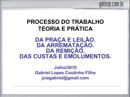 ARREMATAÇÃO - Gabriel Lopes Coutinho Filho