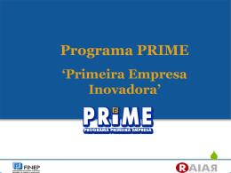 Apresentação sobre o Programa PRIME realizada em 02
