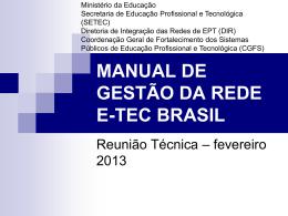 manual de gestão da rede e-tec brasil