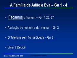 A Família de Adão - Genesis 2-4