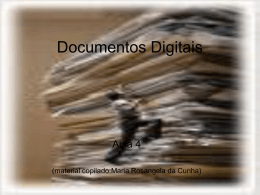 Documentos Digitais aula n.4