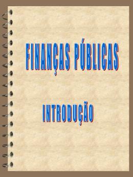 FINAÇAS PÚBLICAS