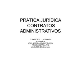 PRÁTICA JURÍDICA CONTRATOS ADMINISTRATIVOS