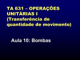 Bombas - Unicamp