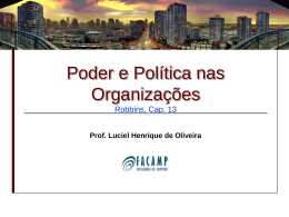PODER E POLITICA
