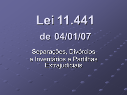 PALESTRA sobre a Lei 11.441 apresentada em SANTOS
