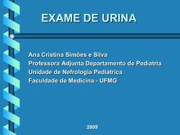 Exame de Urina - Unidade de Nefrologia Pediátrica
