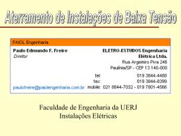 ATERRAMENTO DE INSTALAÇÕES EM BAIXA TENSÃO