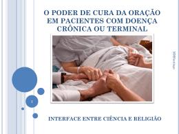 o poder de cura da oração em pacientes com doença crônica ou