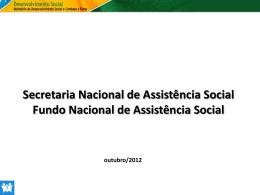Os Fundos de Assistência Social
