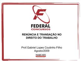 No Direito do Trabalho - Gabriel Lopes Coutinho Filho