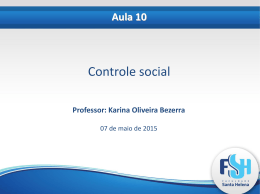 Aula 10, controle social