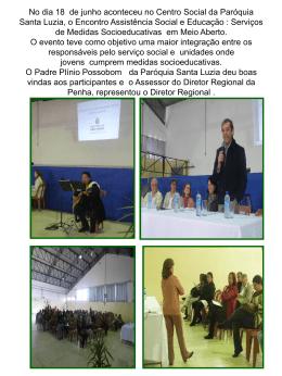 No dia 18 de junho aconteceu no Centro Social da Paróquia Santa