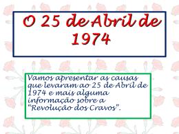 A Revolução de 25 de Abril