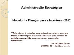 Planejar para Incerteza - 2013