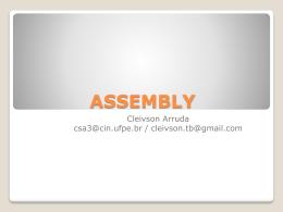 ASSEMBLY-Aula1