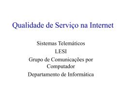 Qualidade de Serviço na Internet