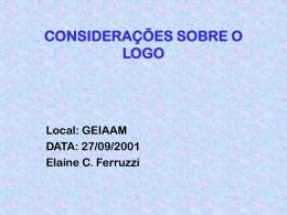 Considerações sobre a linguagem de programação Logo