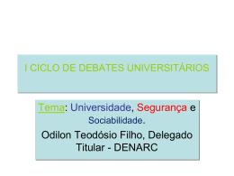 I CICLO DE ESTUDOS UNIVERSITÁRIOS