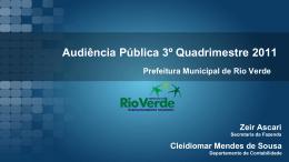 Audiência Pública - Prefeitura de Rio Verde