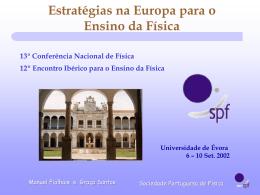 Comunicação de Évora 2002