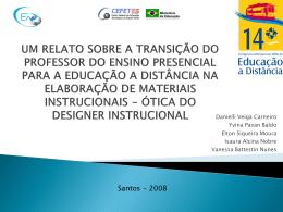 UM RELATO SOBRE A TRANSIÇÃO DO PROFESSOR DO ENSINO
