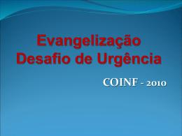 Evangelização Desafio de Urgência