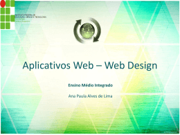 Aplicativos Web – Web Design