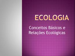 Exercícios – Conceitos de Ecologia