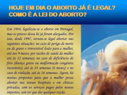 Argumentos sobre o Aborto